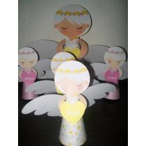 Angelitos 3d Para Bautismo,comunion Para Nena Y Nene
