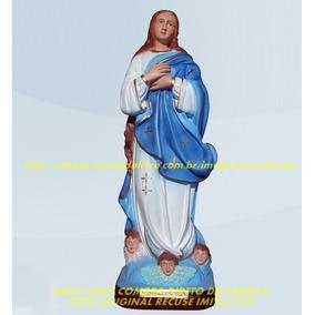 Imagem Nossa Senhora Conceição Estatua 60cm Escultura Gesso