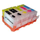 Cartuchos Recargables P/ Canon Ix6510 Ip4810 Con Tinta Foto
