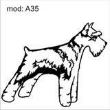 Adesivo A35 Cachorro Raça Schnauzer Decoração Parede