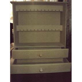 Porta Bijou C/ 2 Cajones Y Porta Aros Para 24 Unidades
