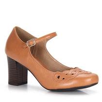 Sapato Boneca Salto Feminino Cesaretti - Caramelo