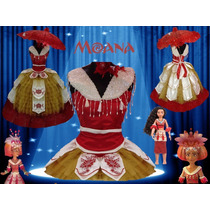 Disfraz Niña Moana Disney Vestido Ceremonial Coronacion