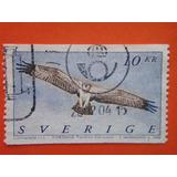 Estampilla Aguila Pescadora Suecia 2002 Sellada