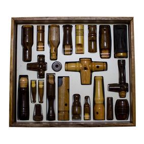 Caixa De Apitos Profissionais Aves Coleção Completa Luxo
