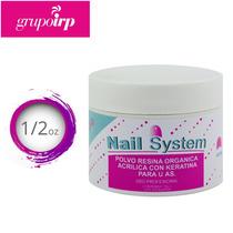 Polvo Resina Organica Transparente Uñas Nail System 1/2oz