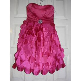 Vestido Rosa Fiesta Estraple Talla 13 Jovencita Hermoso!!