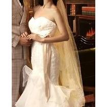 Vestido De Noiva Estilo Sereia + Anágua + Véu Médio