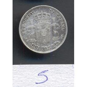 Moneda España 1 Peseta 1899 Km# 706 Plata 0.83 Excelente
