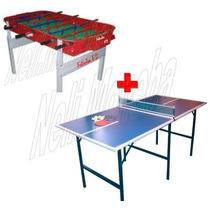 P R O M O -25% Metegol Profesional Aluminio + Mesa Ping Pong