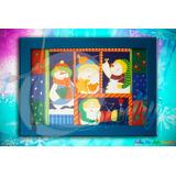 Cuadro Ventana Navidad Arte Country