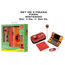 Envio Set 5 Pz Nintendo Ds, Dsi, Dsi Xl Elmo Estuche Caja