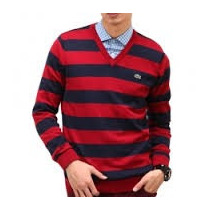 Sweater Original Cuello V Jersey Bar Algodon