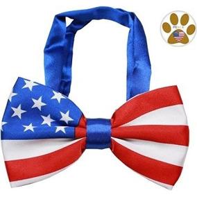 Disfraz Para Perro Bandera Americana De La Pajarita Y Las P