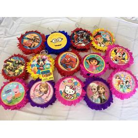 Piñata Mini Decorativa Muchos Personajes