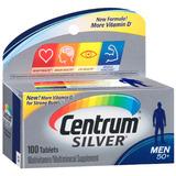 Tabletas Para Hombres 50+ 100 Cápsulas (4 Frascos) Centrum