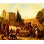Cavalos Cavaleiros Árabes Parados Pintor Delacroix Tela Repr