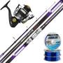 Kit Pesca Pejerrey Kunnan Caña Aitue 4.20m + Reel Lybra 3001