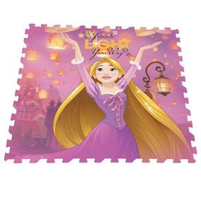 Decoração Quarto Bebê Tapete Eva Rapunzel Disney 90x90cm
