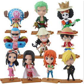 One Piece Boneco Luffy Zoro Sanji Nami Usopp Action Figure