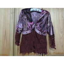 Hermoso Conjunto De Vestir De Blusa Y Pollera