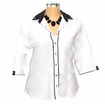 Camisa Dudalinda Flor Plus Size Camisete