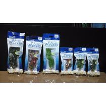 6 Plantas Aquario Artificial 23 /15 Cm Tetra Fish Ornament
