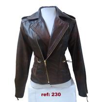 Jaqueta De Couro Legítimo /natural Feminina Ref: 230