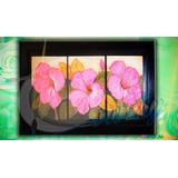 Cuadro Sala Flores Texturas Muralismo