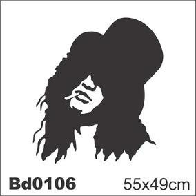 Adesivo Bd0106 Slash Guns N Roses Rock Decoração Parede