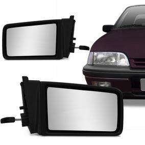 Retrovisor Monza 91 92 93 Manual Espelho Preto Externo