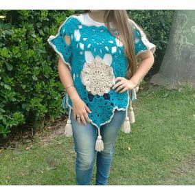 Chaleco Tejido En Crochet Artesanal