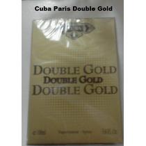Perfume Double Gold 100 Ml Edp Cuba Paris Frete Gratis