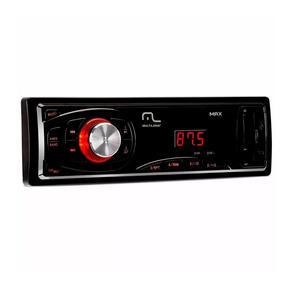 Radio Carro Multilaser Max P3208 Display Entrada Usb Aux Sd