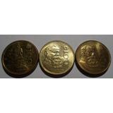 (3 Pz) 100 Pesos 1984 Y 1990 Estados Unidos Mexicanos