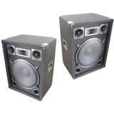 2 Bafles Dancis Potenciados C/ Amplificador Entradas Rca