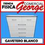 Gavetero Blanco , Madera Industrializada , Comercial George