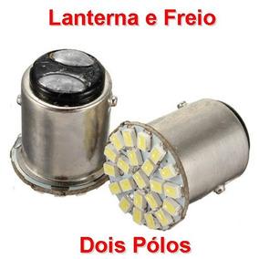 Par Lâmpadas 22 Leds Branca 2 Polos Lanterna/freio Moto Luz