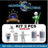 Kit 2 Refil Vela Filtro De Água Modelo Aqualar Ap200 Ef 200