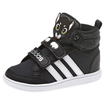 Zapatillas Adidas Neo Hoops Animal Mid Gatito Bebes Negro