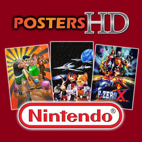 Posters Nintendo Punch Out Fzero Kid Icarus Star Fox Dk