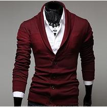Suéter Formal Estilo Saco Blazer Hombre Slim Fit Moda Casual