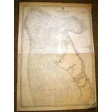 Antiguo Gran Mapa Carta Naval Banco Bahamas Año 1900