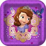 Princesa Sofia Disney 8 Platos De Postre / Fiesta Importados