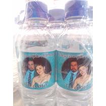 72 Botellas De Agua Personalizadas De 250ml