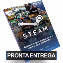 Cartão Steam R$10 Reais Pré-pago Card Br Pc Game