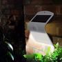 Lampara Solar 8 Led Con Sensor Luz Para Jardin Patio Garaje