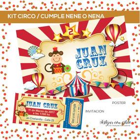 kit circo cumpleaos varon o nena listo para usar