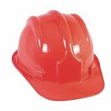 Capacete Com Carneira Segurança Proteção Epi Obra Vermelho