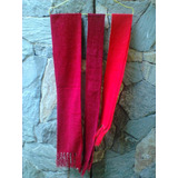 Bufandas De Navidad Color Rojo Para Adultos Y Niños